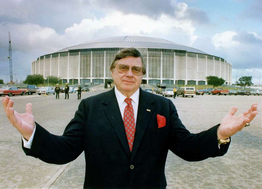 """Bud"" Adams outside the Astrodome in 1988. Photo: Ira Strickstein, HP Staff / Houston Chronicle"