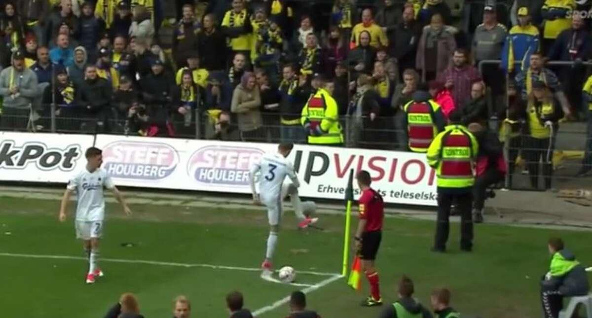 Fans of the Danish soccer team Bronby threw dead rats at Copenhagen during Monday's Superliga match.