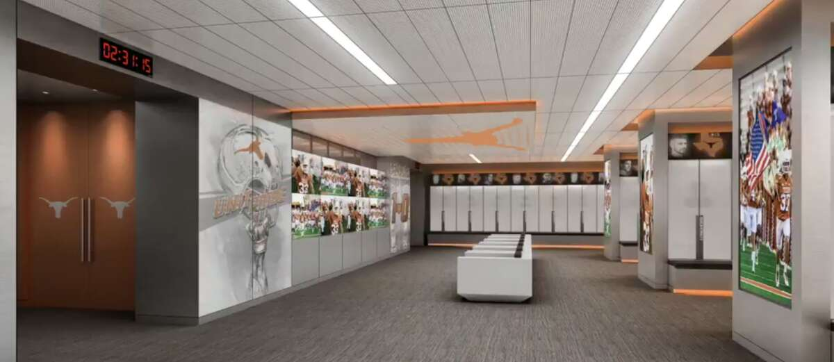 Rendering of what UT's new locker room will look like.