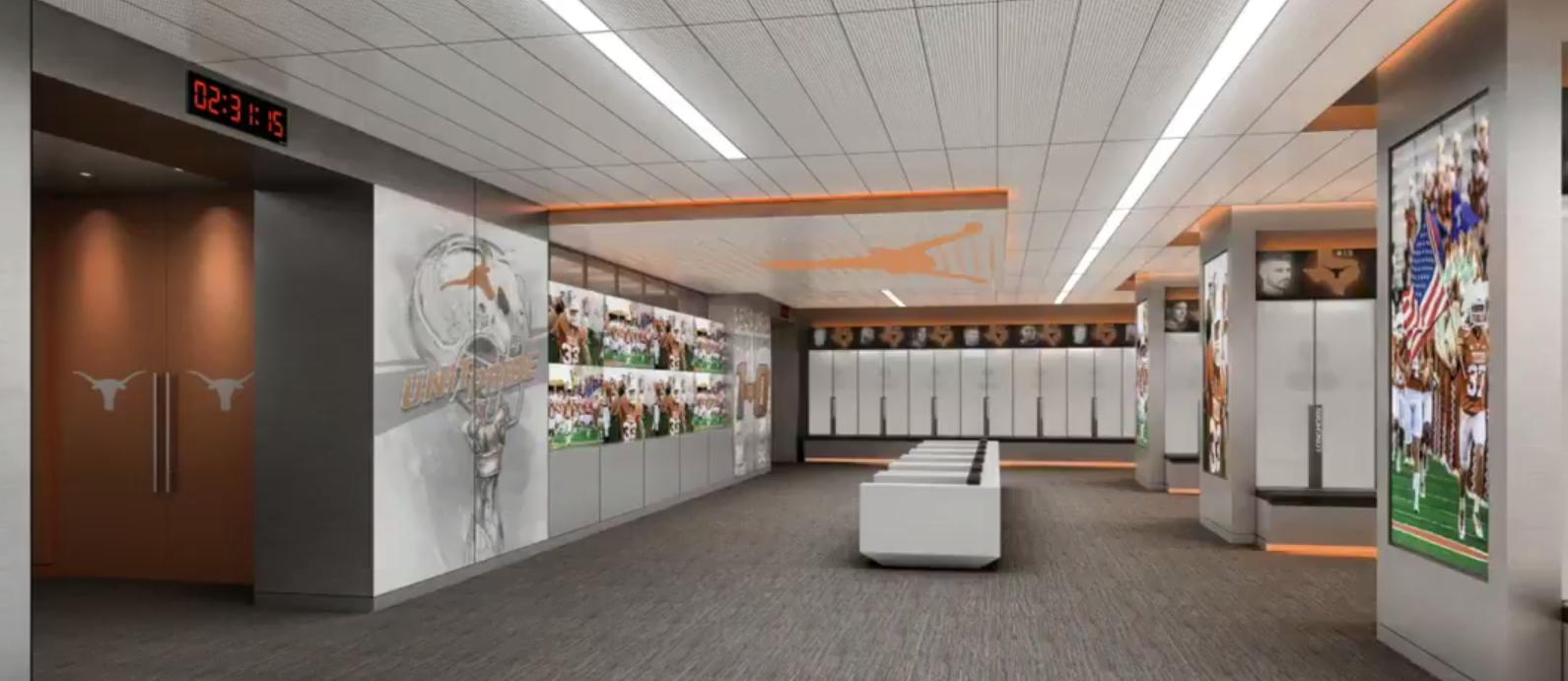 Texas Unveils Impressive Rendering Of New Locker Room