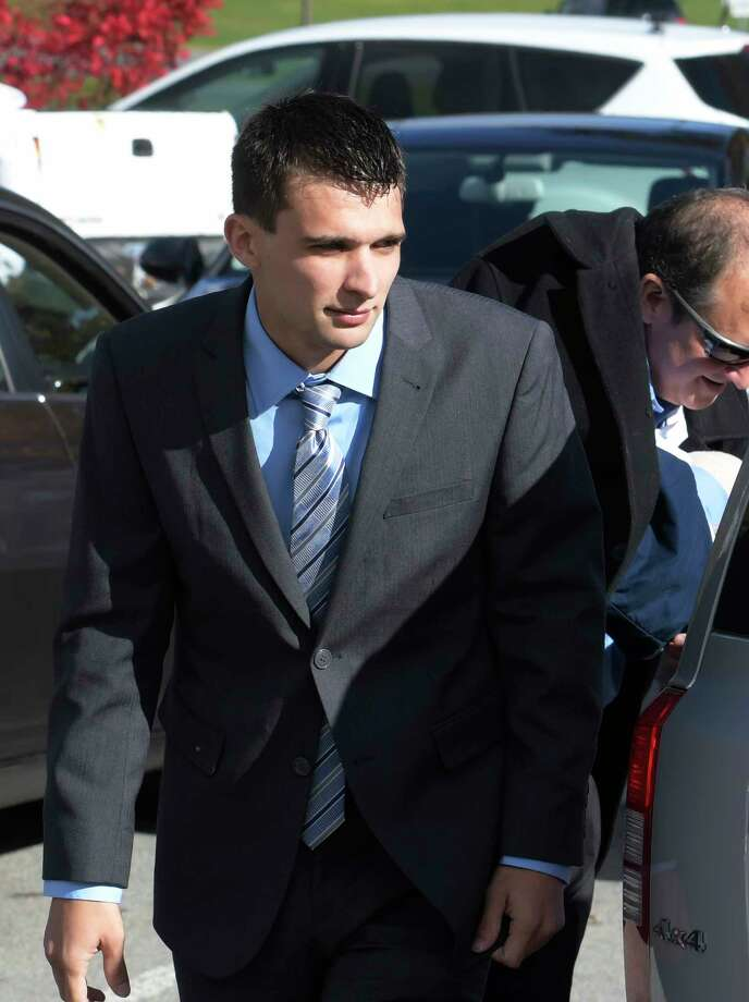 Alexander West arrives for his arraignment at Warren County Court on Oct. 25, 2016, in Glens Falls, N.Y., for the alleged killing of a girl with his boat on Lake George last July.  (Skip Dickstein/Times Union) Photo: SKIP DICKSTEIN / 20038526A