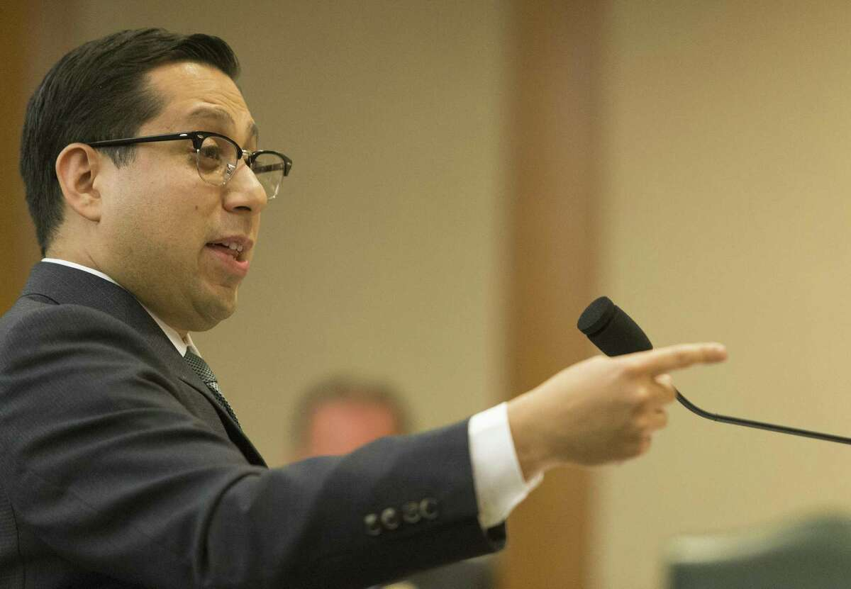 Rep. Diego Bernal, D-San Antonio, presents House Bill 192, which would prohibit housing discrimination based on sexual orientation or gender identity, to the House Business & Industry Committee at the Texas Capitol in Austin on April 17, 2017.