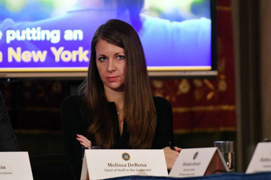 Melissa DeRosa, chief of staff to the governor, attends a cabinet meeting in the Red Room on Tuesday, Feb. 28, 2017, at the Capitol in Albany, N.Y. (Will Waldron/Times Union) Photo: Will Waldron
