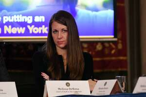 Melissa DeRosa, chief of staff to the governor, attends a cabinet meeting in the Red Room on Tuesday, Feb. 28, 2017, at the Capitol in Albany, N.Y. (Will Waldron/Times Union)