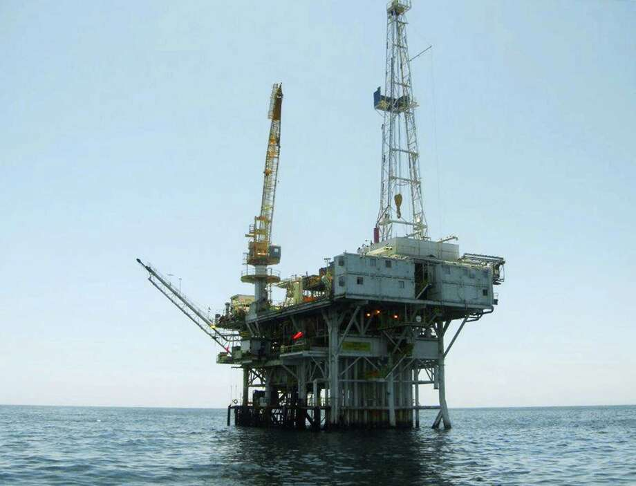 This undated photo provided by the California State Lands Commission shows Platform Holly, an oil drilling rig in the Santa Barbara Channel offshore of the city of Goleta, Calif. The platform will be decommissioned and its operator is seeking bankruptcy protection, nearly two years after the platform was idled when an onshore pipeline ruptured and spilled a massive amount of oil into the ocean, the state and Venoco LLC said Monday, April 17, 2017. (State Lands Commission via AP) Photo: HOGP / State Lands Commission