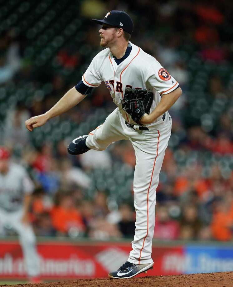 Houston Astros relief pitcher Chris Devenski (47) pitches during the sixth inning of an MLB baseball game at Minute Maid Park, 2017, in Houston. Photo: Karen Warren, Houston Chronicle / 2017 Houston Chronicle