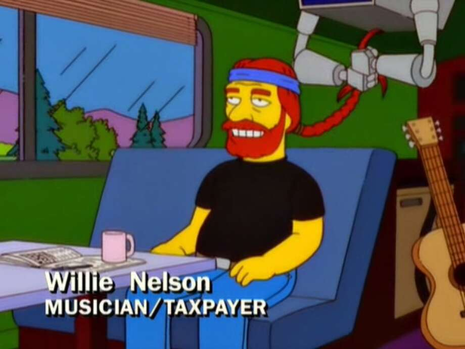 "PHOTOS: The famous Texans who have appeared on ""The Simpsons"" Willie Nelson (above) is just one of a handful of Texans who have appeared on ""The Simpsons"" over nearly 30 years of existence. Click through to see the Texans who have encountered the Simpsons of Springfield... Photo: Fox Television"