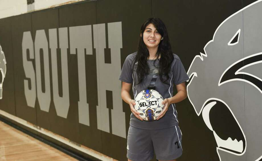 Emily Zapata has 181 goals in three seasons with United South. She has been named the Newcomer of the Year, the Offensive Player of the Year and the Most Valuable Player in District 29-6A. Photo: Danny Zaragoza /Laredo Morning Times File