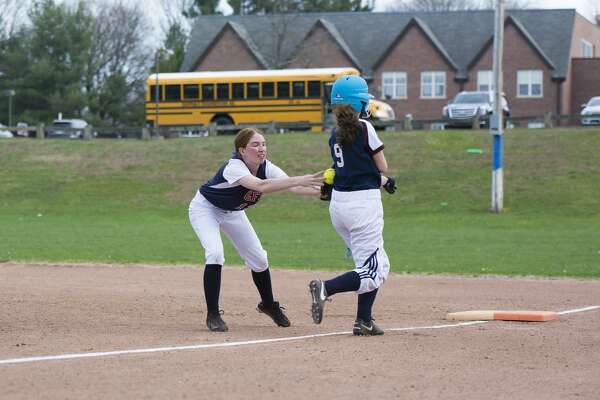 GFA senior Kallie Fellows of Fairfield had three hits in her team's victory over The Harvey School on April 11.