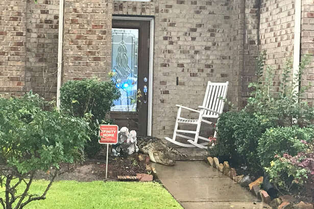 As a Fort Bend County deputy was driving through the Old Orchard neighborhood Tuesday morning, he came across an alligator in the middle of the street. The gator moved from the street to the front porch of a home.