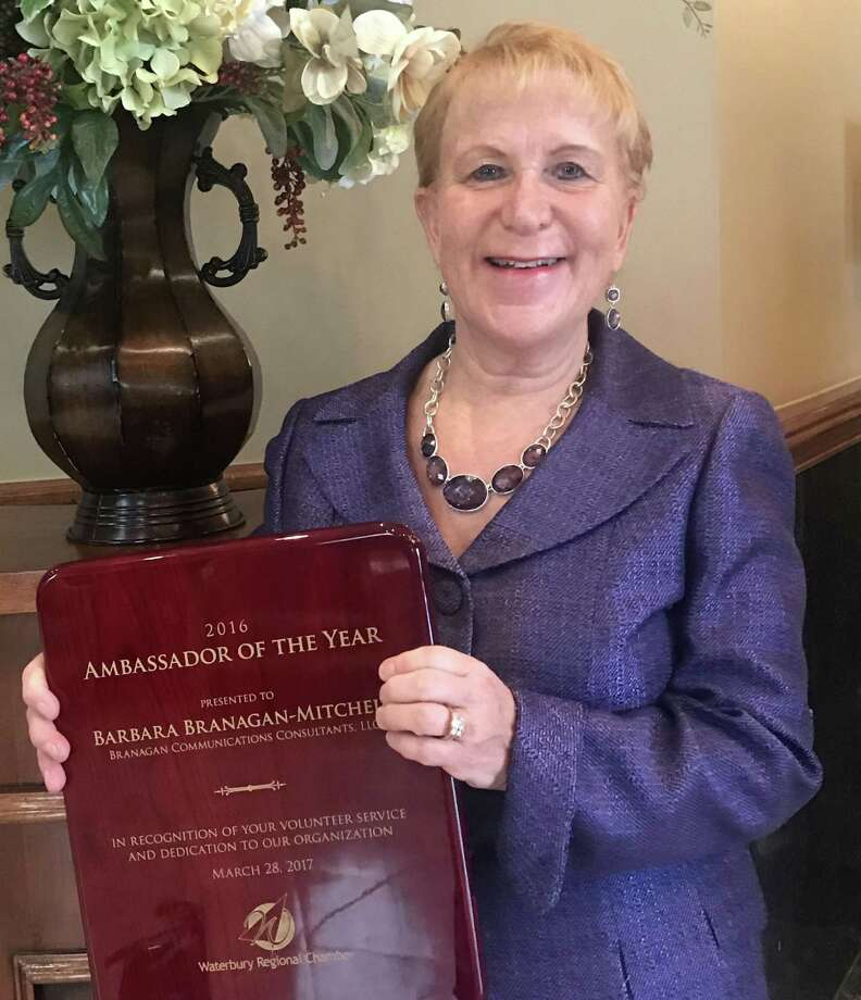 Barbara Branagan-Mitchell, owner of Branagan Communications Consultants LLC in New Milford, was recently named the Waterbury Regional Chambers 2016 Ambassador of the Year. Photo: Courtesy Of Barbara Branagan-Mitchell / The News-Times Contributed