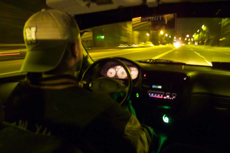 An actor posing as a street racer is pictured.Click through the gallery ahead to see the deadliest roads in Webb County. Photo: Myung J. Chun/Getty Images