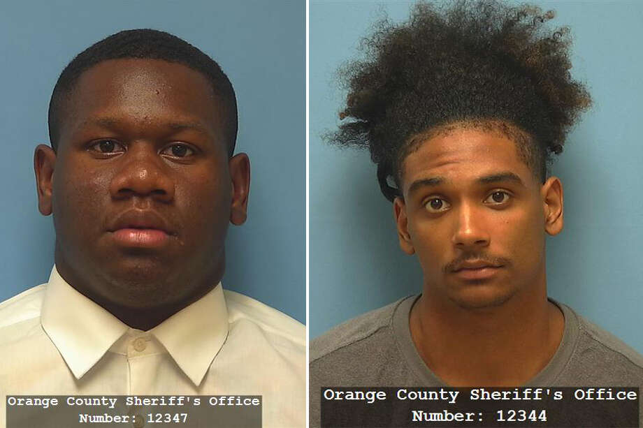 Morris Joseph, 18, and Rufus Joseph, 18, bonded out of the Orange County Jail Monday after being arrested on a warrant for aggravated assault. They bonded out on a $20,000 bond each. Photo: Orange County Sheriff's Office