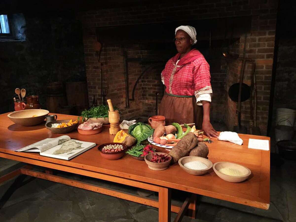 Culinary historian Lavade Nahon will lead a cooking demonstration based on African preparations on Saturday, April 22, 2017, on the colonial-era hearth at Fort Crailo State Historic Site in Rensselaer. (Photo courtesy of Cordell Reaves)