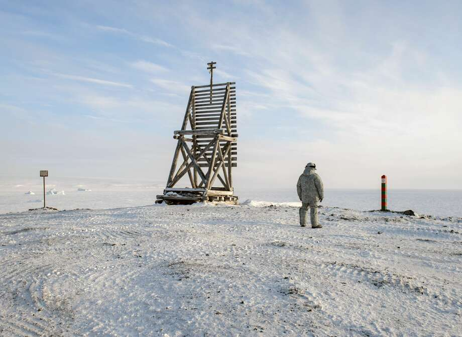 A view shows a tower during Russian President Vladimir Putin's 2017 visit to the Arkhangelsk region. Photo: Kommersant Photo/Kommersant Via Getty Images