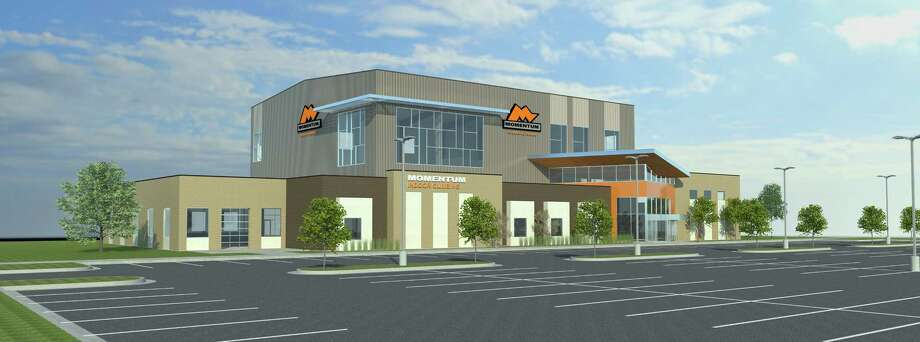 """REI will open its first """"Co-op Climb"""" store inside Momentum Katy, a 36,000-square-foot rock-climbing facility opening in July. Photo: Momentum Katy"""