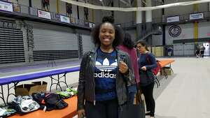 """Were you Seen helping out at thethird annual  """"  We Care  """" project event at SEFCU Arena on the University at Albany campus onMonday, April 17, 2017? At the event, which was hosted by University at Albany and Albany Medical Center, volunteers packed and delivered""""survival kits"""" containing items of comfort and necessity for victims of sexual assault."""