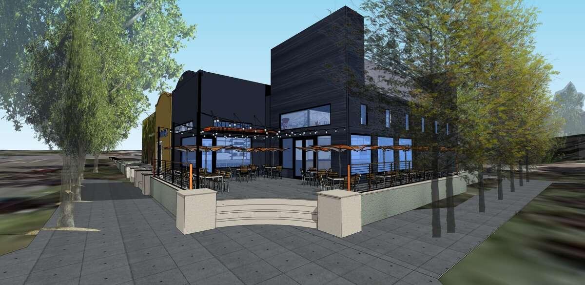 Exterior rendering for Barranco, Carlos Altamirano's latest concept in Lafayette. Rendering via Crome Architetture