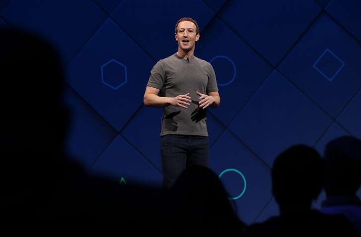 Facebook Chairman and CEO Mark Zuckerberg delivers the keynote address to kick off  the F8 Facebook' Developer Conference in San Jose, Calif. on Tues. April 18, 2017.