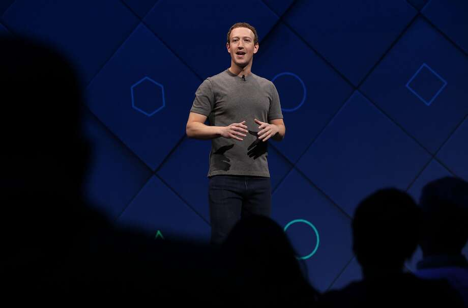 Facebook Chairman and CEO Mark Zuckerberg delivers the keynote address to kick off  the F8 Facebook' Developer Conference in San Jose, Calif. on Tues. April 18, 2017. Photo: Michael Macor, The Chronicle