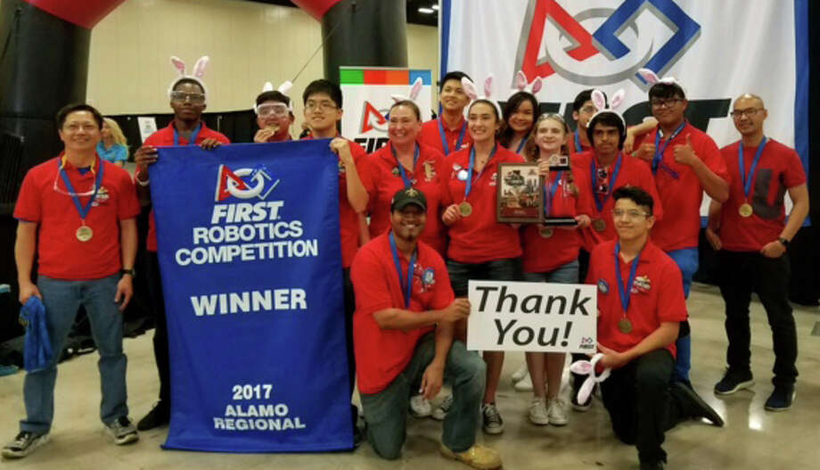The Stafford High Robotics Team reached a historic feat April 5-8 in San Antonio when it won the FIRST (For Inspiration and Recognition of Science and Technology) Robotics Alamo Regional Competition. Photo: Stafford MSD