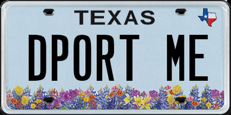 Rejected platesIn the first three months of 2017,580 custom licence plates were rejected by the state of Texas.Click through to see the top licence plates rejected by the Department of Motor Vehicle in January, February and March. Photo: Chron.com/ Houston Chronicle