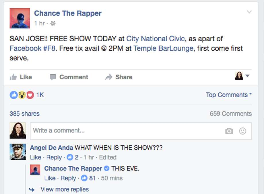 Chance the Rapper/Facebook