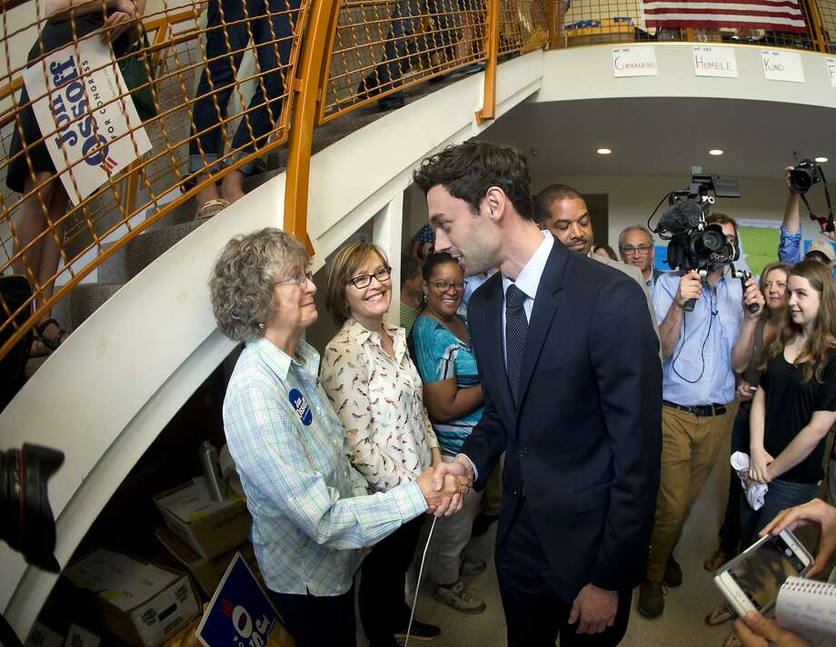 Jon Ossoff, Democratic candidate for Georgia's 6th Congressional seat, has raised $8.3 million, most from outside the district. Photo: John Bazemore, Associated Press