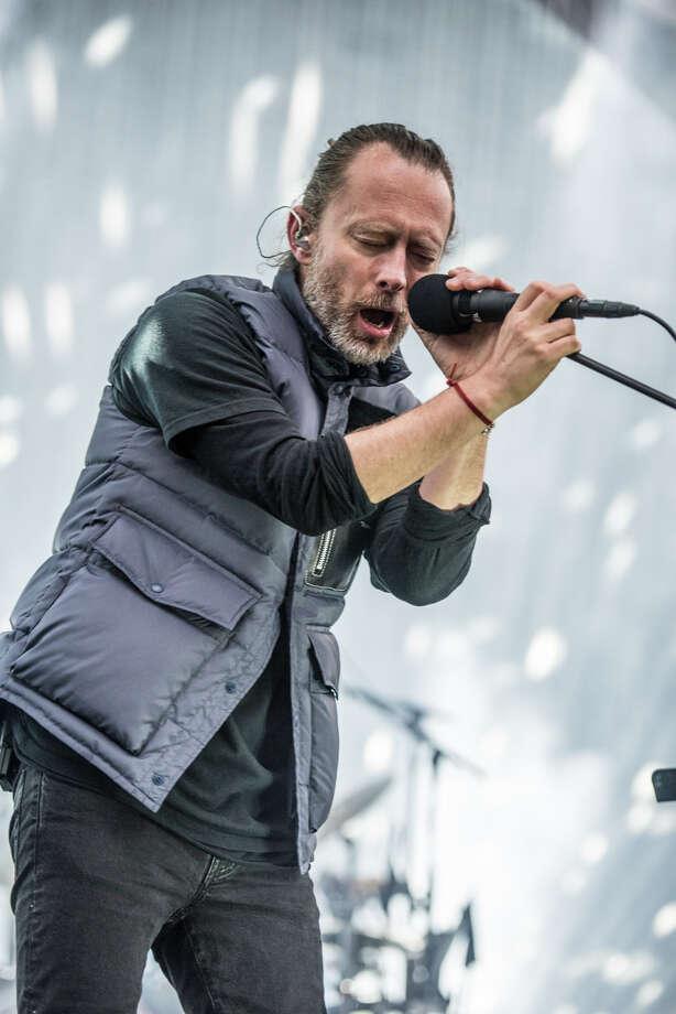Lead Singer Thom Yorke of Radiohead performs at the Greek Theatre in Berkeley on Monday, April 17, 2018. Photo: Jay Blakesberg