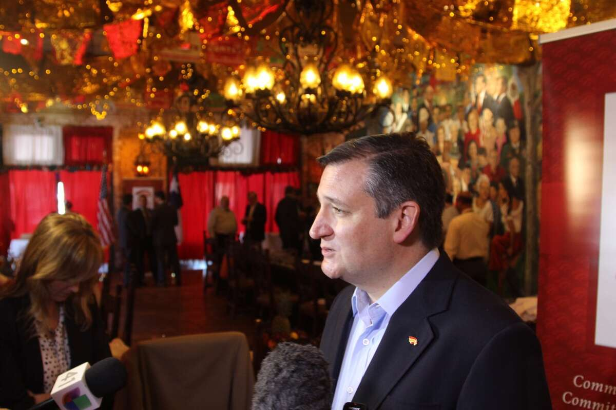 U.S. Senator Ted Cruz, R-Texas, meets with members of the San Antonio's Hispanic Chamber of Commerce on Tuesday, April 18, 2017, at Mi Tierra Cafe & Bakery.