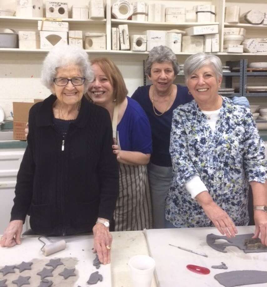 Members of the Evelyn Rubenstein JCC Adult committee Rose Hurwitz, Fran Epstein, Marge Mayer and Phyllis Wenig have partnered up to offer Mitzvah projects. In January, the group made blankets for the Women's Center and this week members made ceramic decorations for MD Anderson patients. In May, participants will bake Challah for J Meals On Wheels clients. Contact Morgan Steinberg at 713-595-8170 for more information. Photo: Evelyn Rubenstein JCC