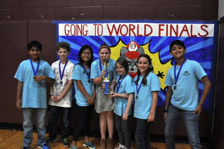 The Presbyterian School fourth-grade Team A won first place at Odyssey of the Mind State Tournament. Photo: Presbyterian School