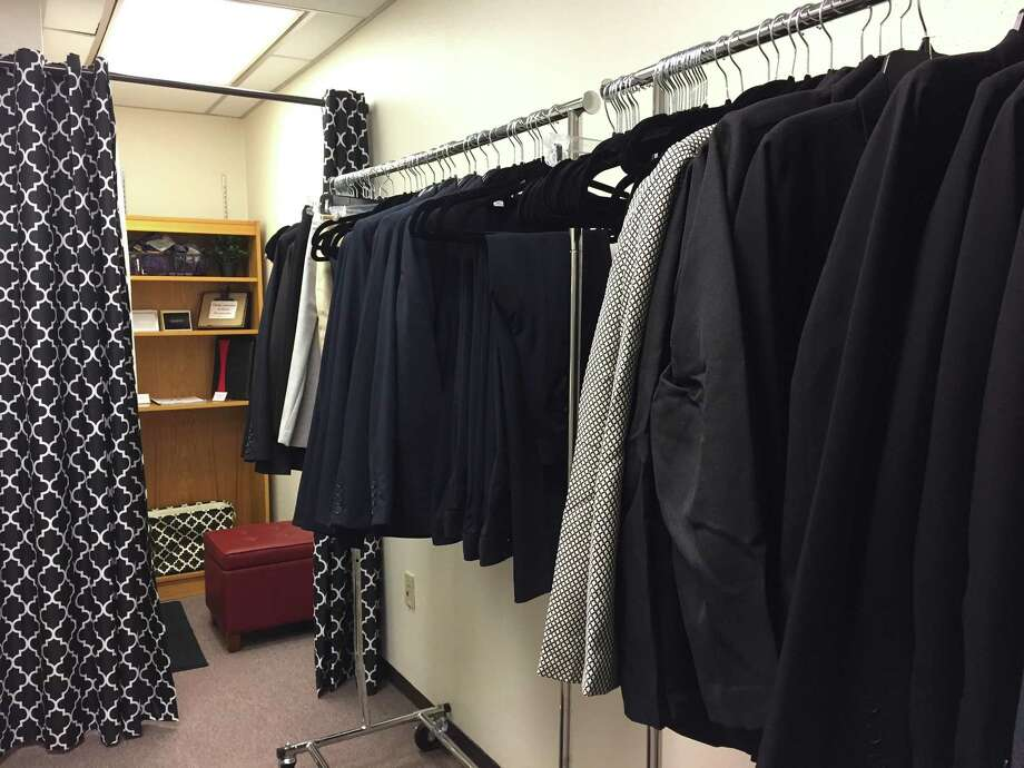 University of Houston's Career Services department recently opened up a Career Closet. Students can rent a suit for job interviews for $10. Photo: Rebecca Hazen