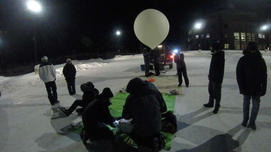 A group of University of Houston students spent three weeks in Alaska conducting experiences with weather balloons. Photo: Michelle Nowling