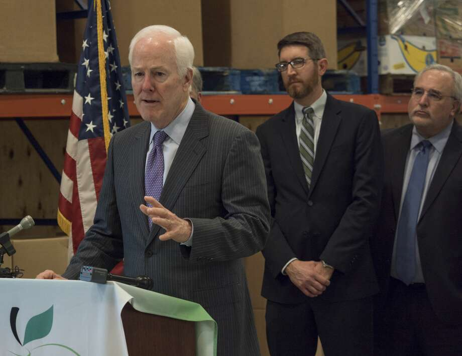 Senator John Cornyn speaks 04-18-17 at the Midland West Texas Food Bank about new legislation to reduce food insecurity and poverty. Tim Fischer/Reporter-Telegram Photo: Tim Fischer/Midland Reporter-Telegram