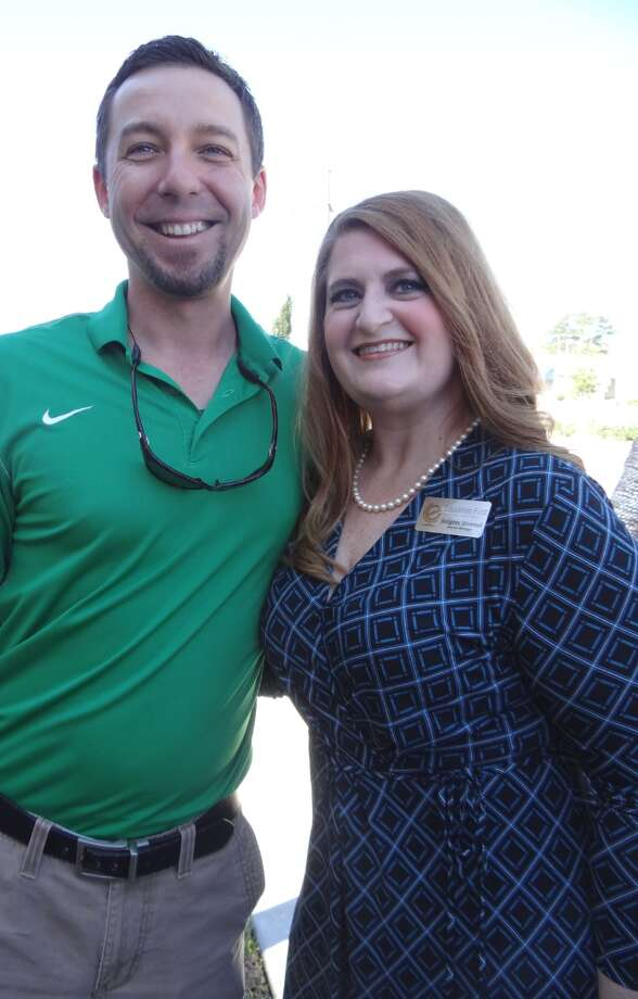 Jeremy Vincent and Bridgette Silvernail at the Education First Federal Credit Union Administration Building Ribbon Cutting.