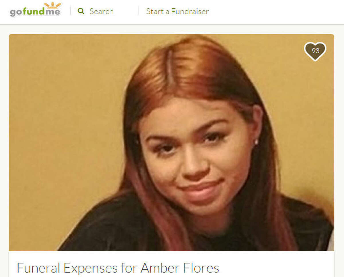 Amber Flores, 19, was fatally shot Feb. 22, 2017, allegedly by her ex-boyfriend. She was four months pregnant at the time and reportedly had begun picking out babies' names. (GoFundMe)