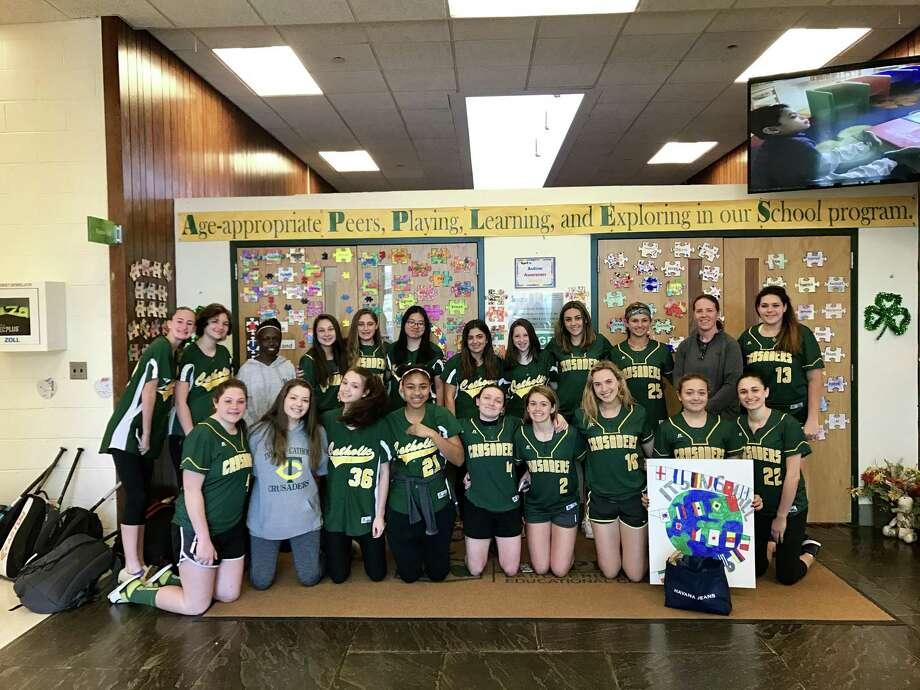 The Trinity Catholic High School girl's softball team. Photo: Trinity Catholic High School