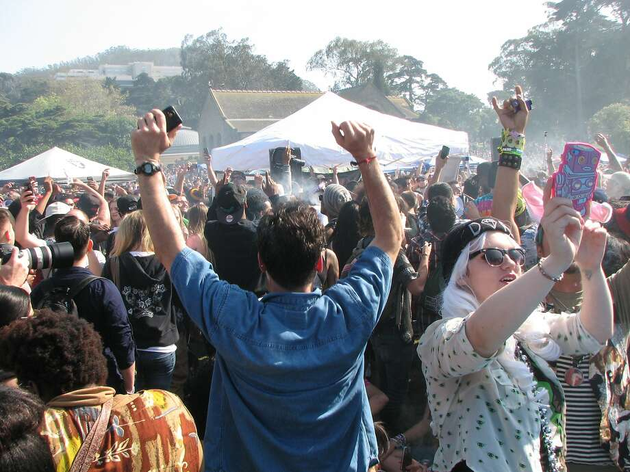 The highest profile 420 event, the celebration on Hippie Hill, will of course be underway once again this April 20. For the first time, however, the event will be permitted and more regulated, with portable bathrooms, security, local DJs, food vendors, cleaning crews, and medical teams onsite. In return, city officials ask that visitors leave tables, tents, glass (that means bongs, too), barbecues, and amps at home. Photo: By David Downs, San Francisco Chronicle