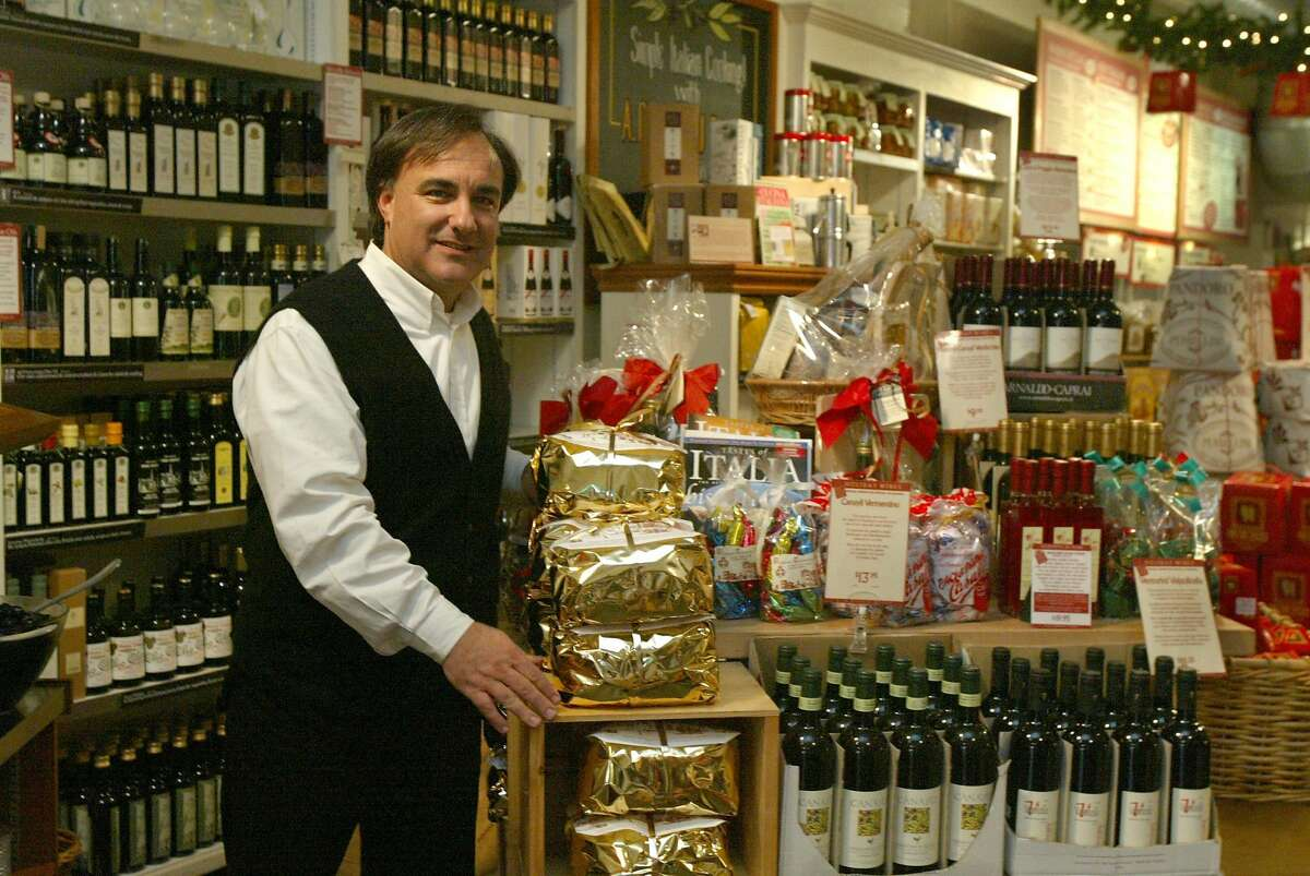 Owner Paul Ferrari at the now-closed Castro Street store in 2003