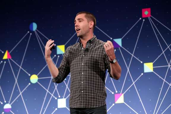 Chris Cox, chief product officer, speaks during a discussion called Media and Facebook at the F8 Facebook Developer Conference in San Jose, Calif. on Tues. April 18, 2017.