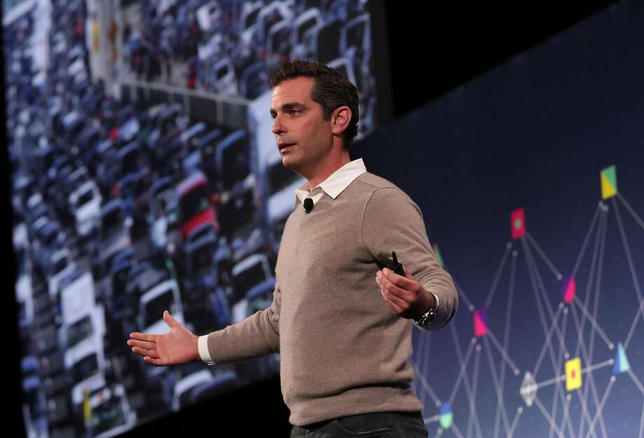 Dan Rose, VP of Facebook Partnerships, speaks during a discussion called Media and Facebook at the F8 Facebook Developer Conference in San Jose on Tuesday. Photo: Michael Macor, The Chronicle
