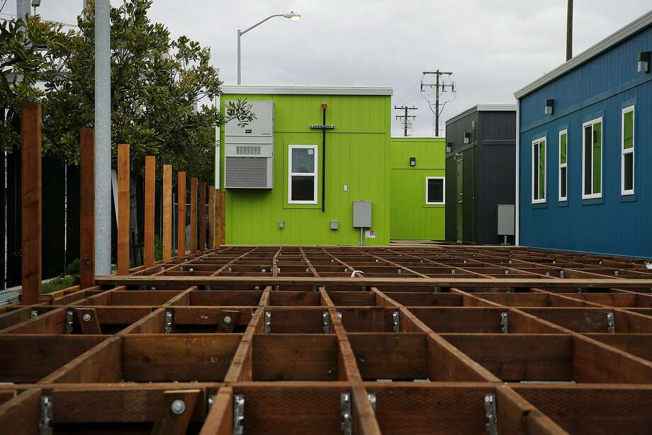 San Francisco's latest Navigation Center, seen under construction in April, is ready to open in Dogpatch. Three other centers are in the works along with a new family shelter in SoMa. Photo: Santiago Mejia, The Chronicle