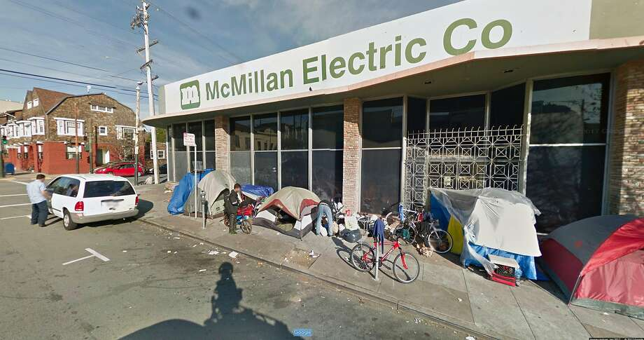 "A screenshot of 1515 South Van Ness Ave. in January. San Francisco wants to turn the building into a temporary ""pop-up"" shelter for homeless people. Photo: Courtesy Of Google Maps"