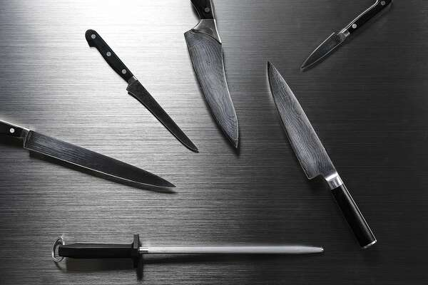 Knives are seen on Tuesday, April 18, 2017 in San Francisco, Calif.