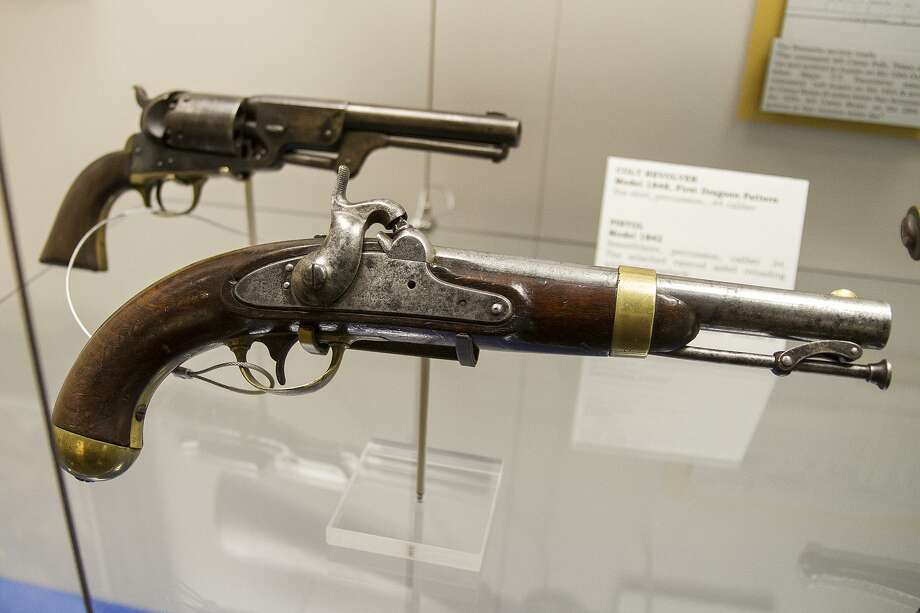 Pistols were important in the taming of Texas, and these historic weapons are on display at the museum. Photo: Alma E. Hernandez / For The Express News