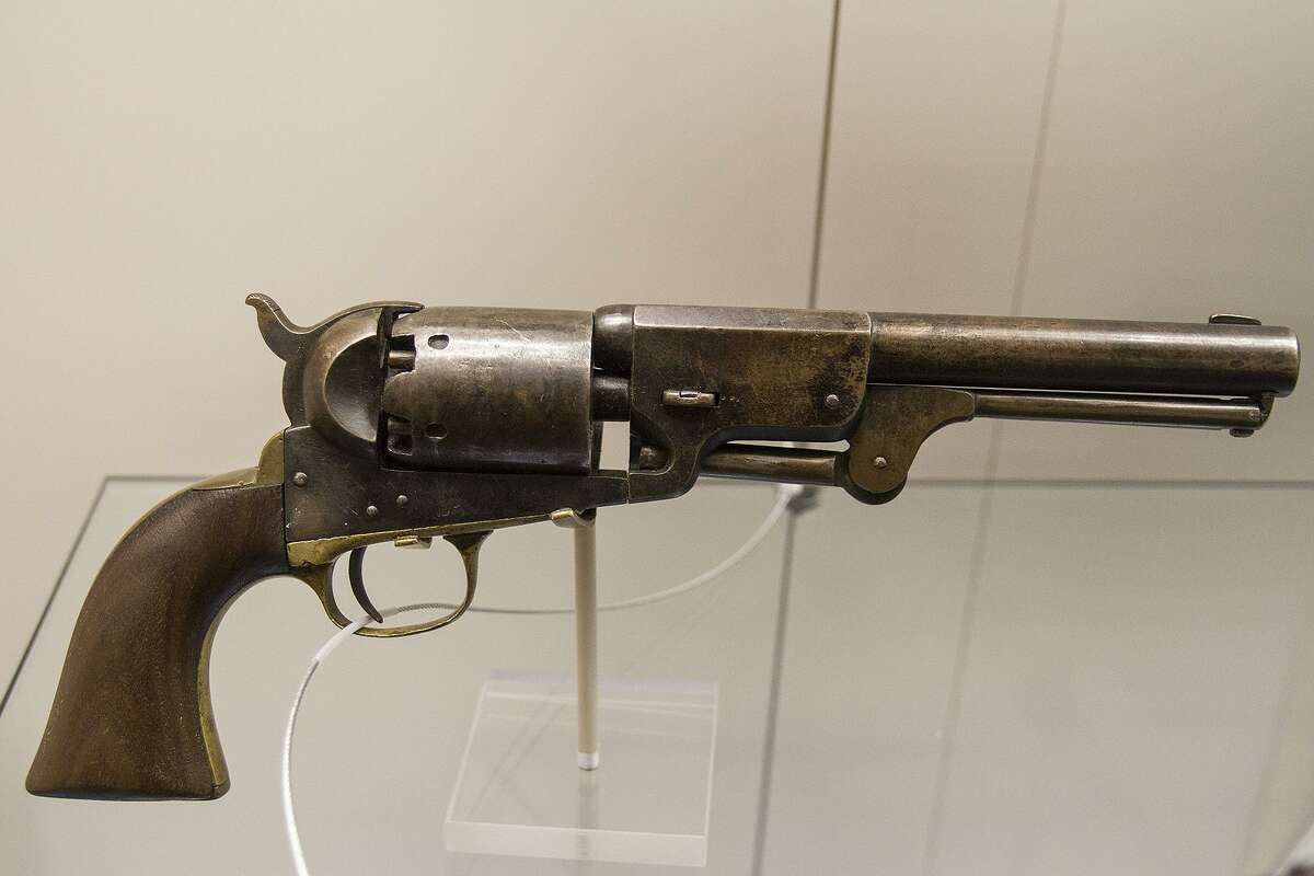 Model 1842 percussion pistol, .54 caliber smoothbore, on display at the Fort Sam Houston Museum.