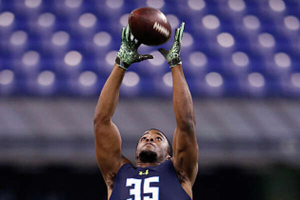 INDIANAPOLIS, IN - MARCH 06: Defensive back Jourdan Lewis of Michigan in action during day six of the NFL Combine at Lucas Oil Stadium on March 6, 2017 in Indianapolis, Indiana. (Photo by Joe Robbins/Getty Images)