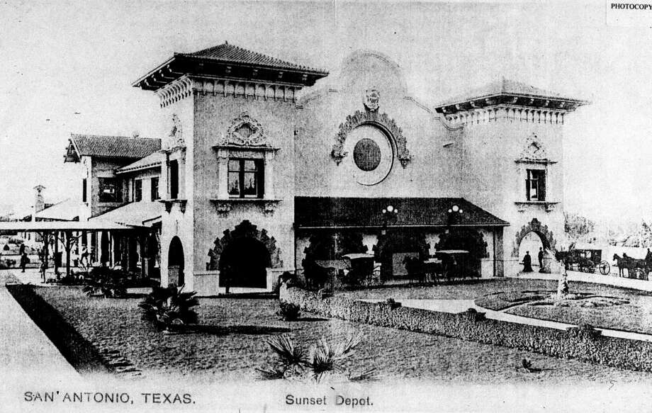 Sunset Station in downtown San Antonio is seen in a photo taken in the early 1900s. The historic railroad depot built in 1902 was restored by a public-private partnership involving the city, VIA Metropolitan Transit Authority and Zachry Realty, an affiliate of H.B. Zachry Co. (AP Photo/Sunset Station Group) Photo: AP File Photo / SUNSET STATION GROUP