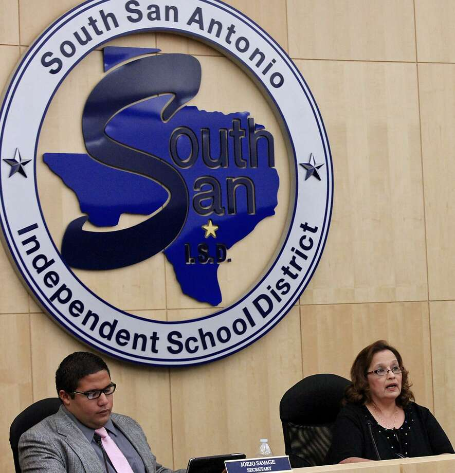 South San Antonio Independent School District board members  attend a 2013 meeting at district headquarters. All but one member of the often-dysfunctional board have been replaced since 2014, and the district is no longer under state supervision. Photo: Staff File Photo / © 2013 San Antonio Express-News